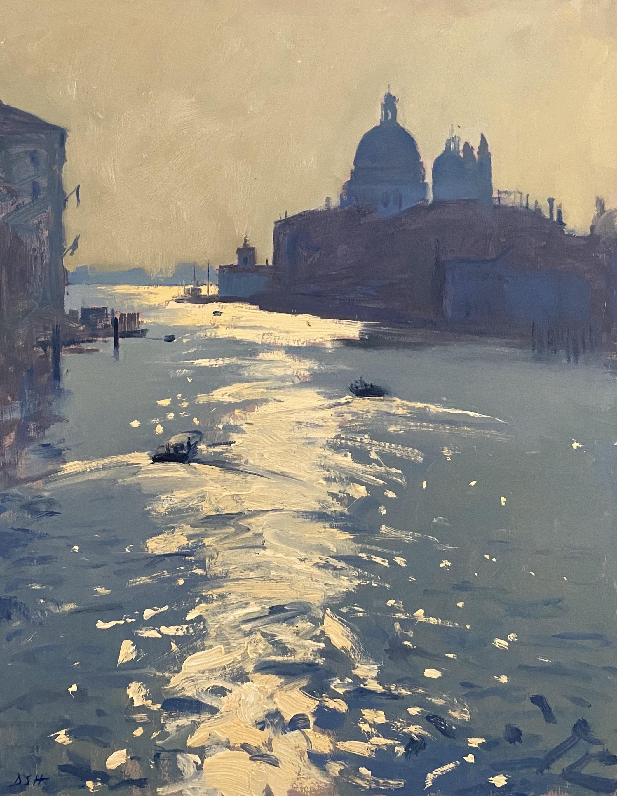 Early light from the Accademia Bridge