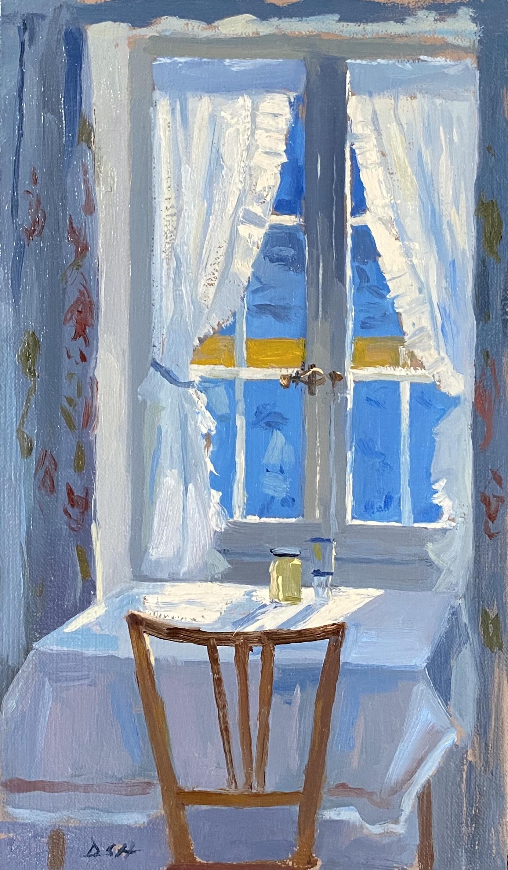 Medium on the table, Alpine bedroom
