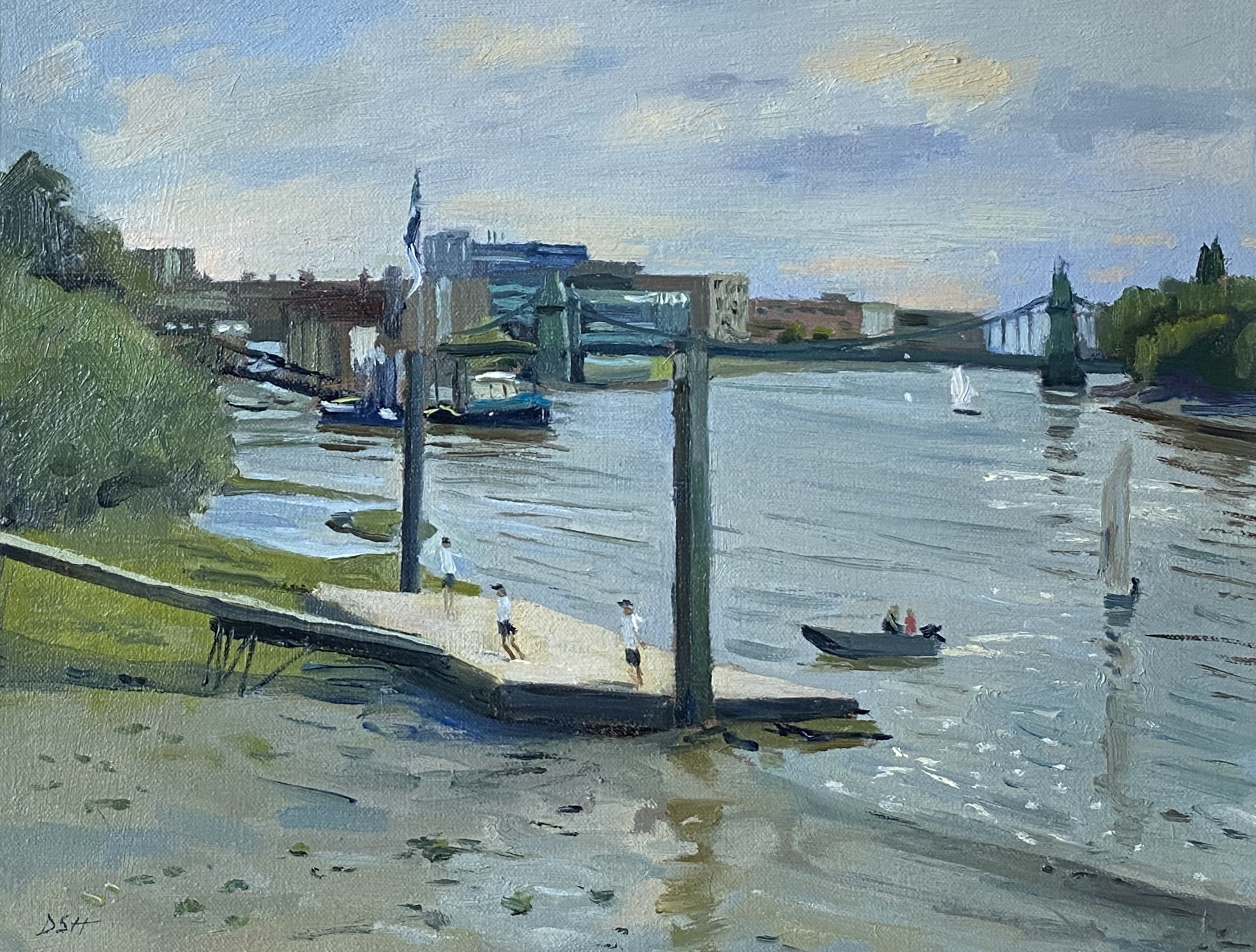 Sailing lessons by the Hammersmith Bridge