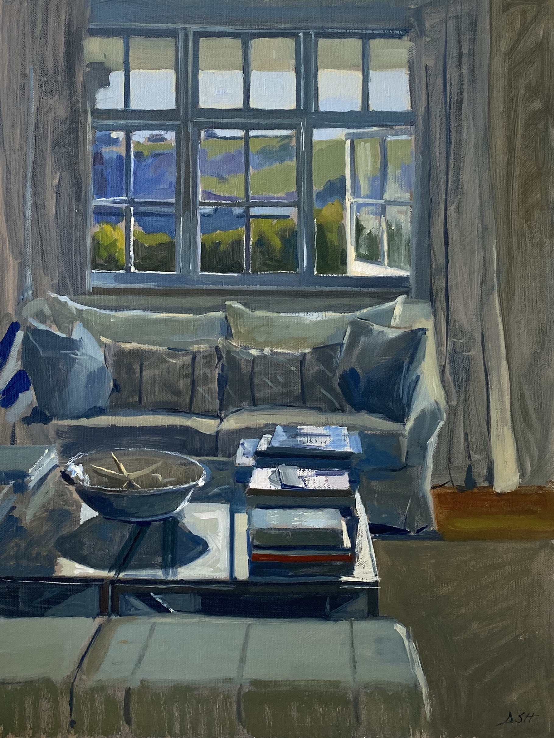Spring Afternoon Reflections, Cornish Interior