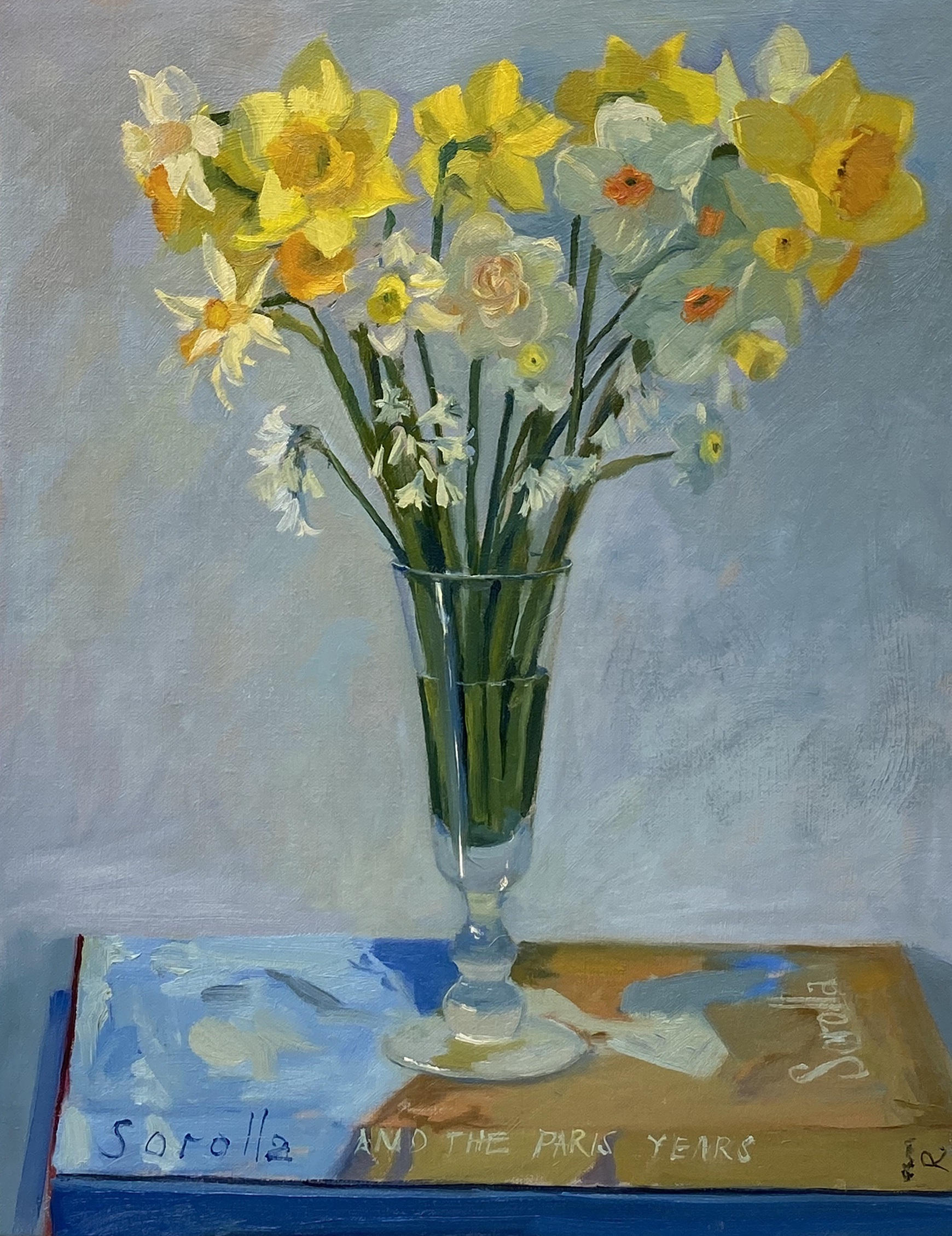 Daffodils and Snowdrops with Sorolla Book