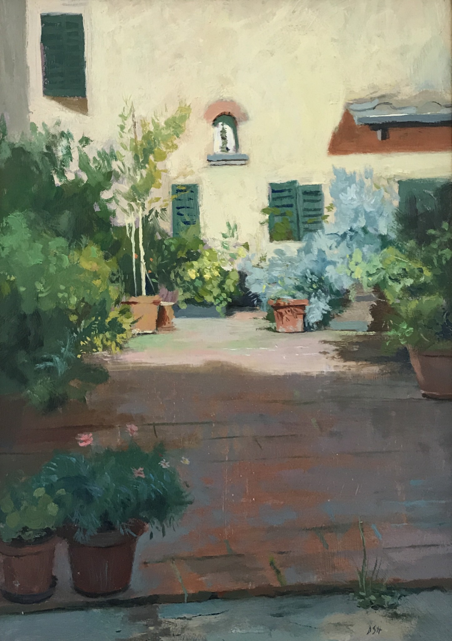Afternoon light in Panzano garden