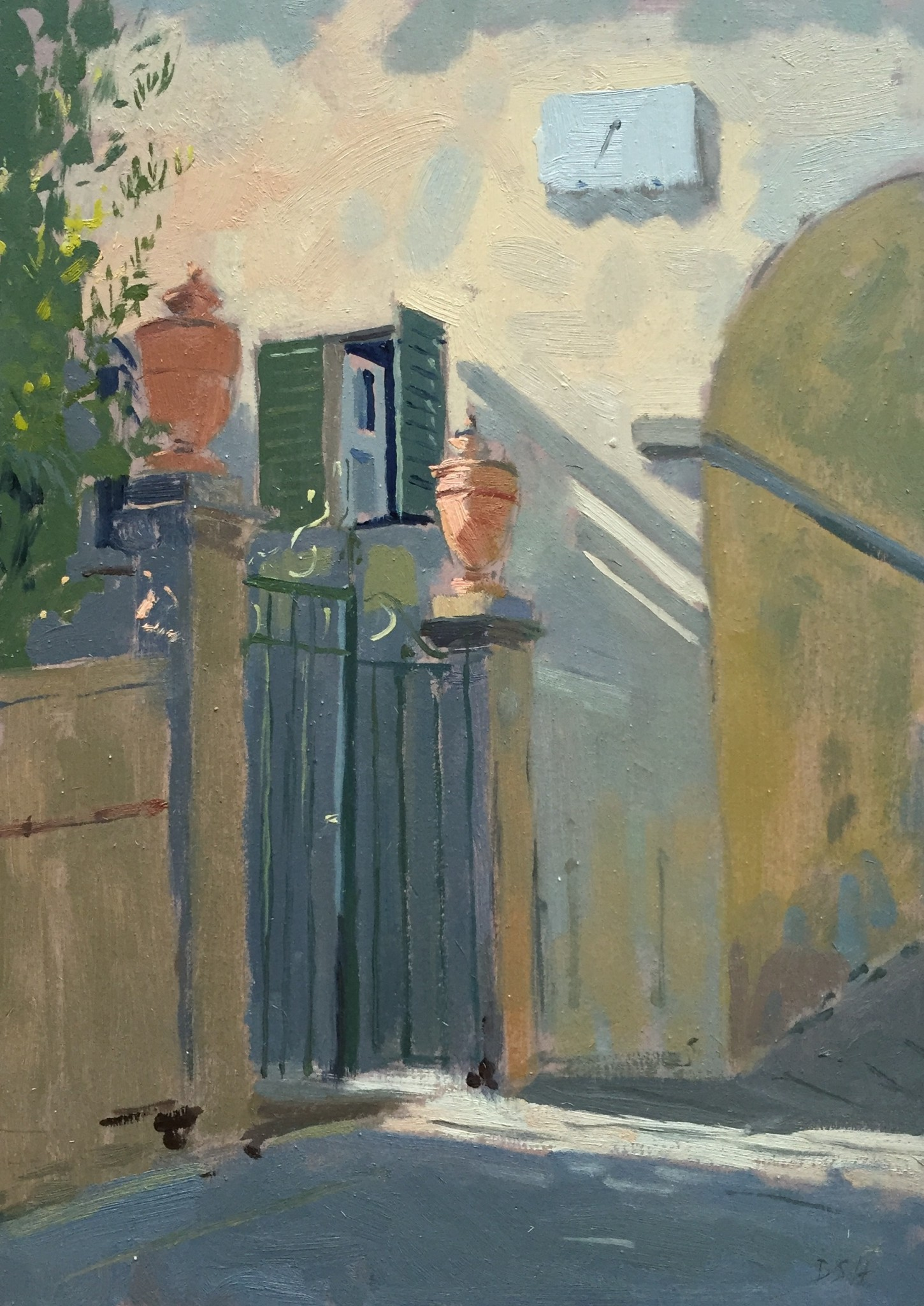 Afternoon Light Creeping through the Gate at Panzano