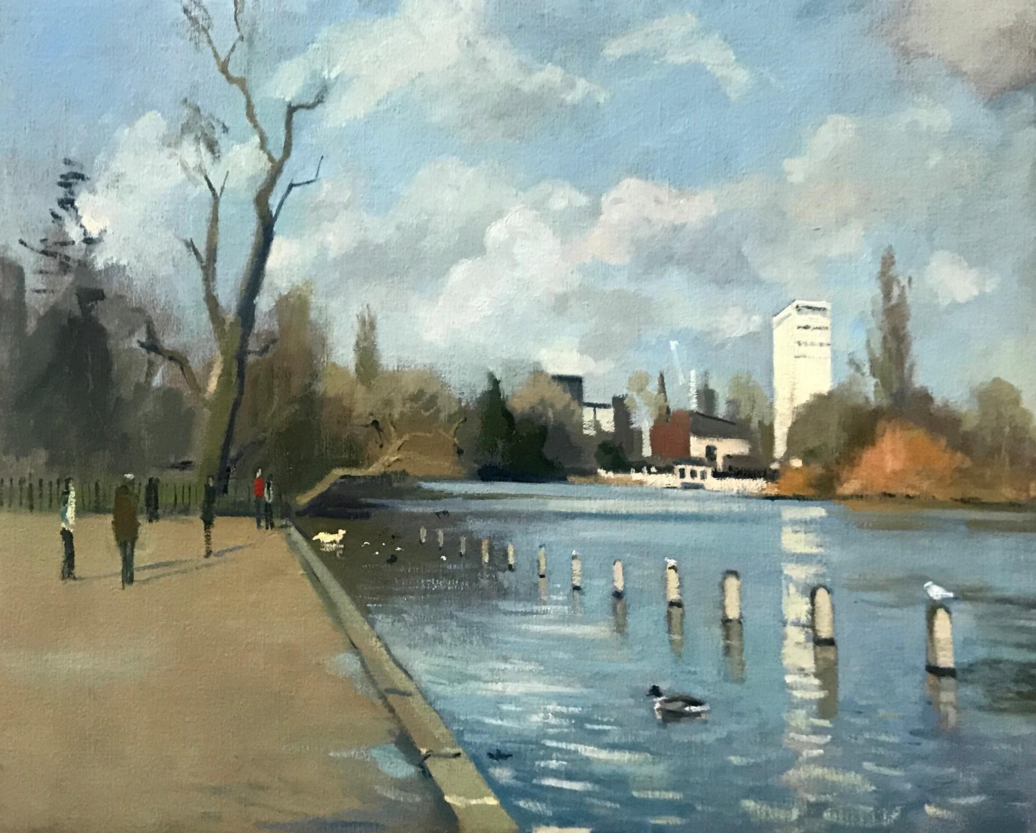 Morning Light, Ducks in Hyde Park