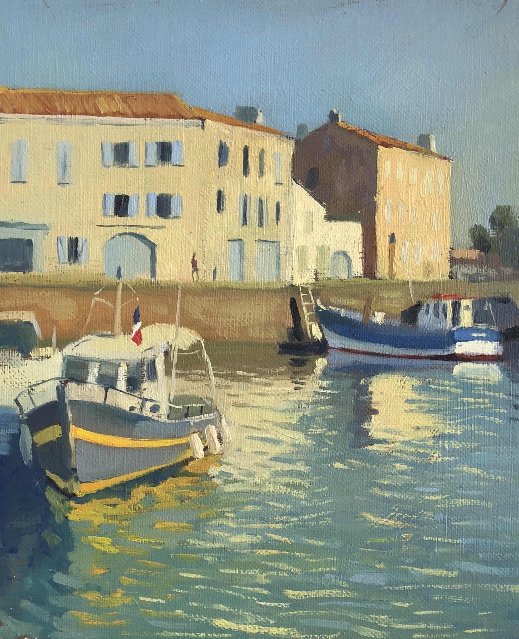 Harbour at Saint-Martin-de-Re in the Morning Light