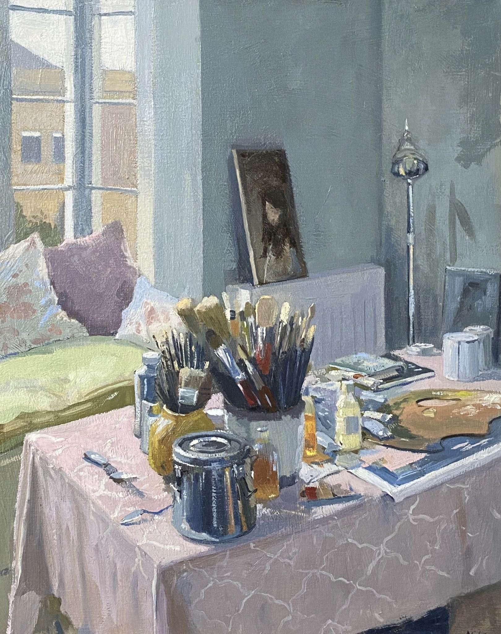 Studio Interior with Sorolla Poster