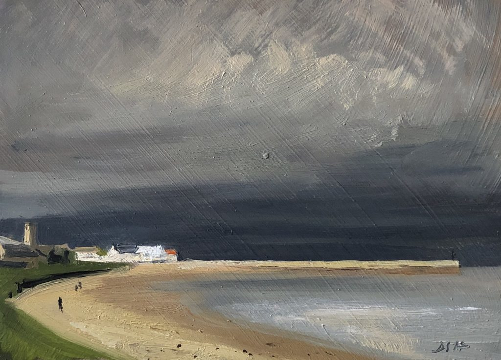 St Andrews stormy light