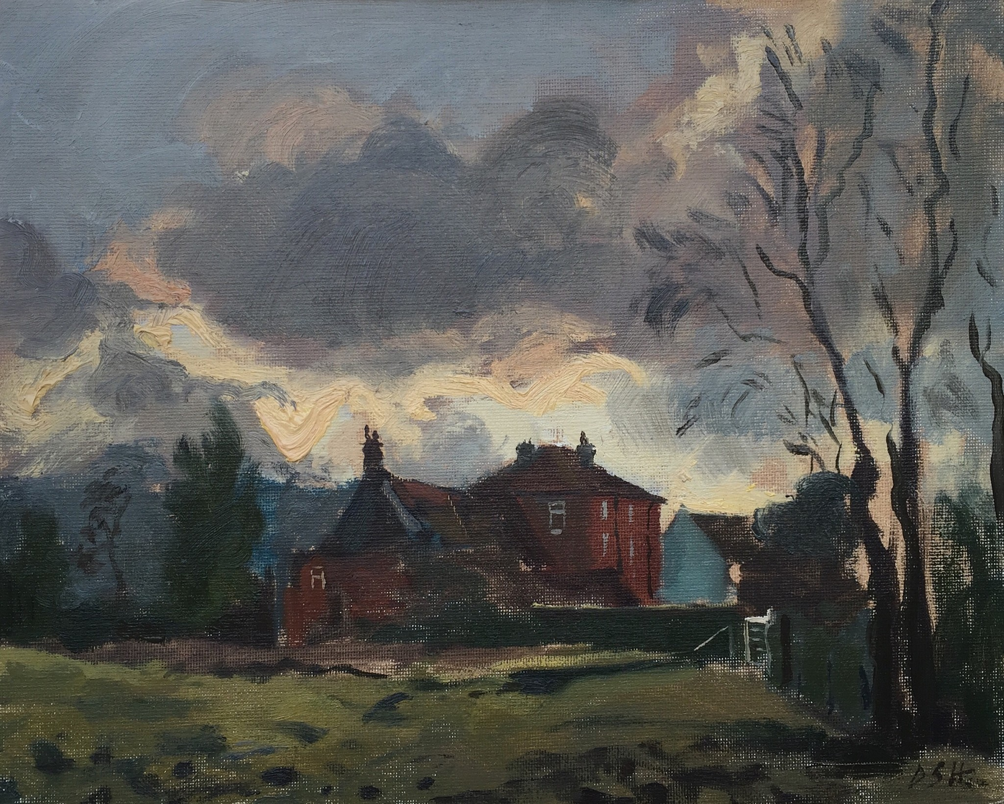 Storm Clouds Over the Old Mill, Salisbury