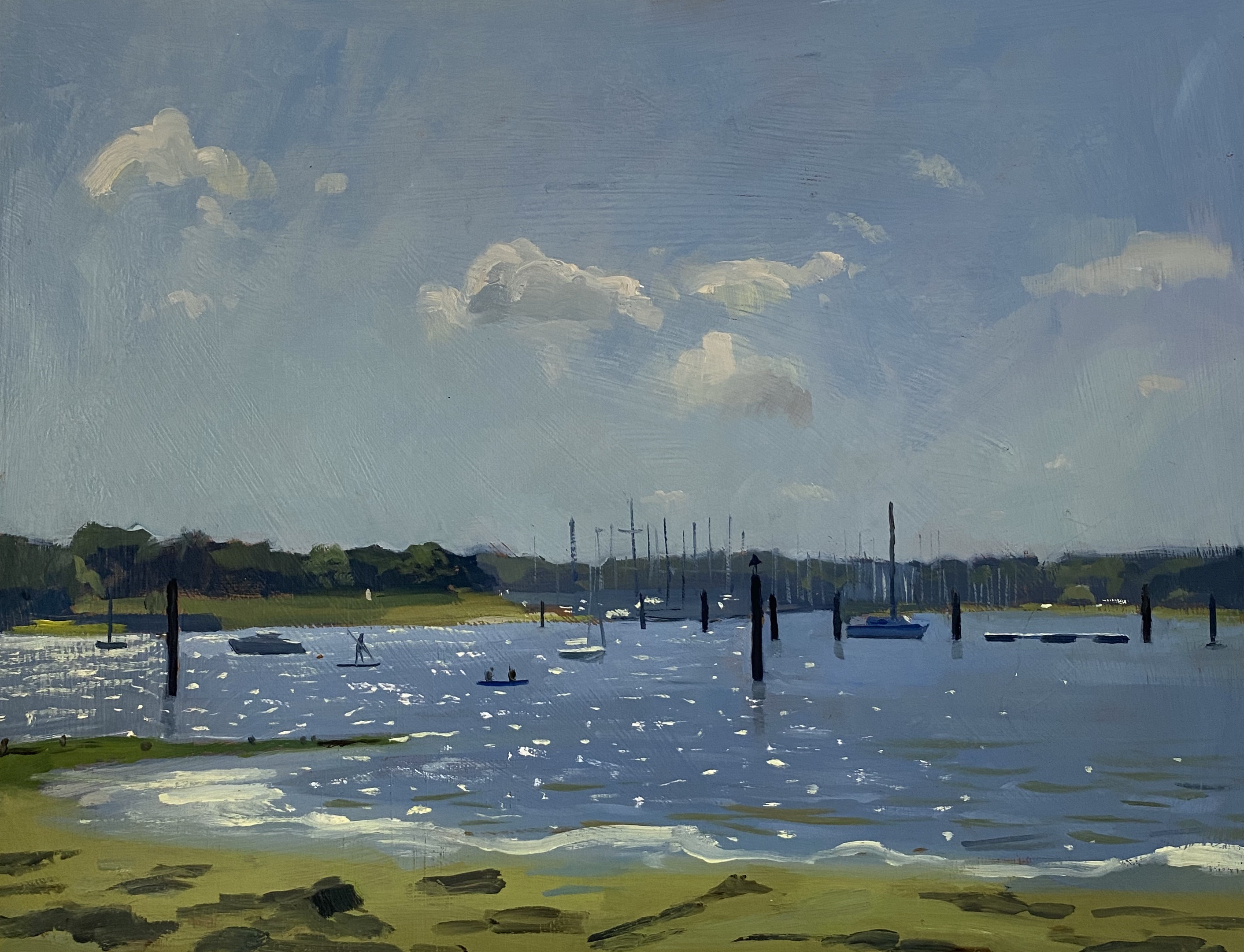 Summer Afternoon Sparkle, Boats on the Hamble River