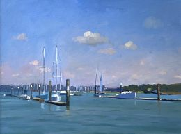 Morning Light on the Hamble River from Pontoon