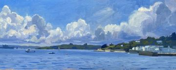 Boats at sea, St Mawes Harbour