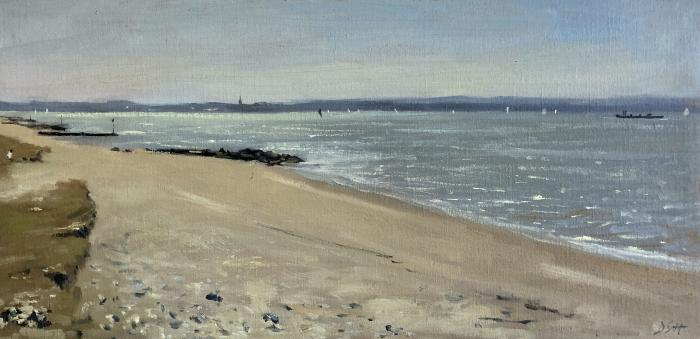 Afternoon light, Isle of Wight from Lee on Solent