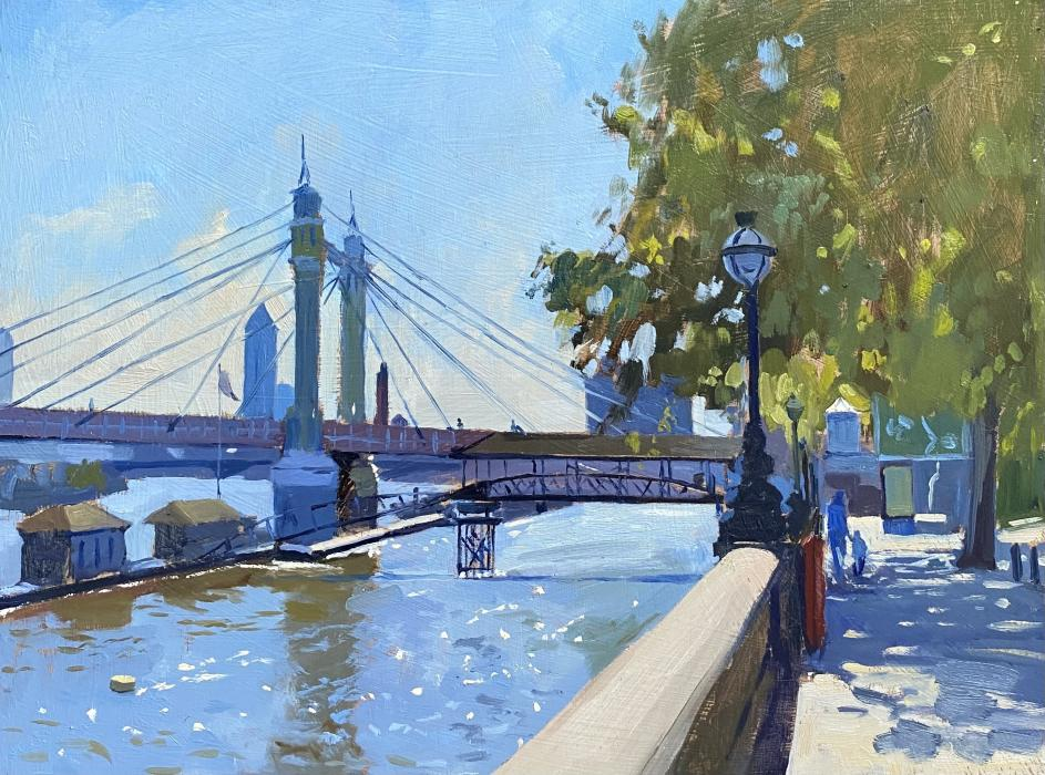 Late Spring afternoon along the Chelsea Embankment
